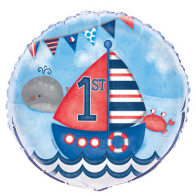 "Nautical 1st Birthday 18"" Foil Balloon"