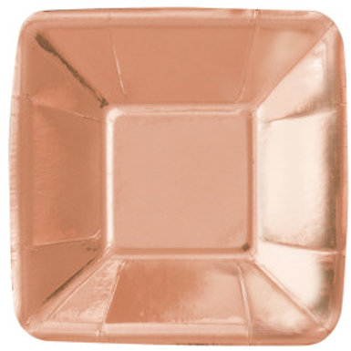"ROSE GOLD 5"" APPETIZER PLATE"