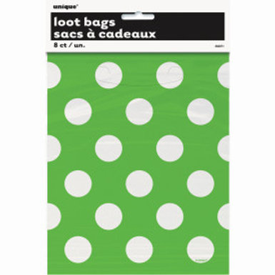 LIME GREEN DOTS LOOTBAGS
