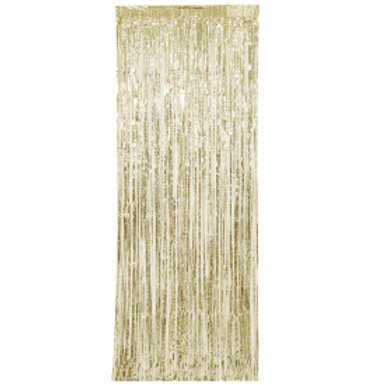 Gold Fringe Door Curtain 3X8
