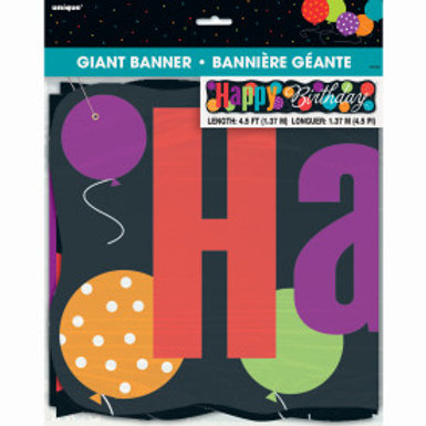 Birthday Cheer Giant Jointed Banner