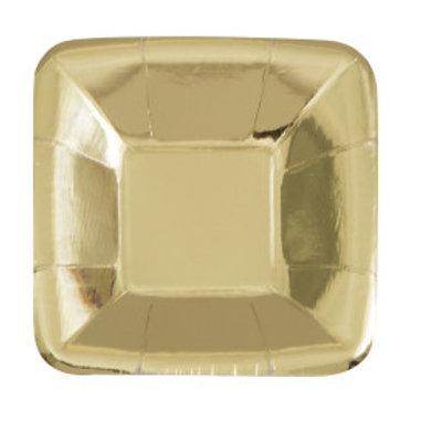 Gold Foil Square Appetizer Plates