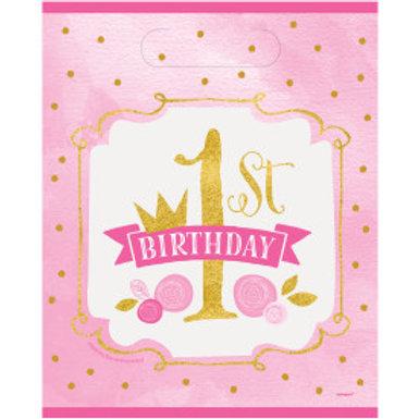 Pink/Gold 1st Birthday Lootbag