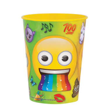 Emoji Faces Plastic Cup - 16 oz