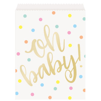 Oh Baby Gold Treat Bag