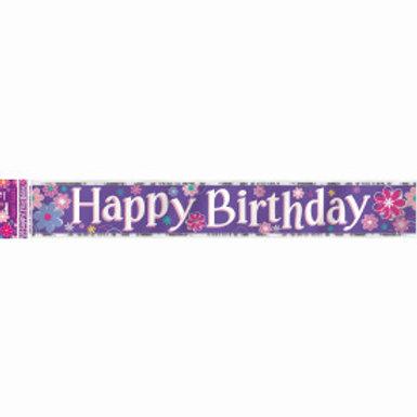 Birthday Blossom Foil Banner