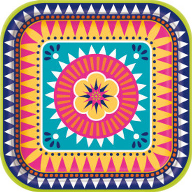 "Boho Fiesta 9"" Square Plate"