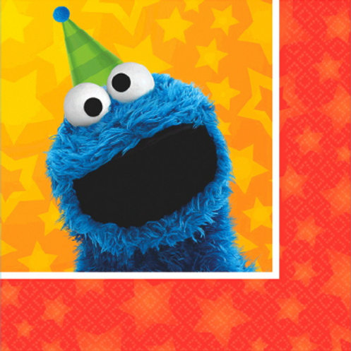 Sesame Street 2 Bev Napkins