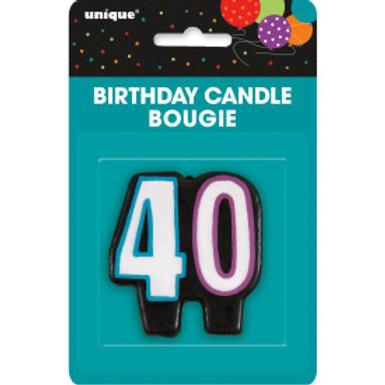 Birthday Cheer Number 40 Birthday Candlee
