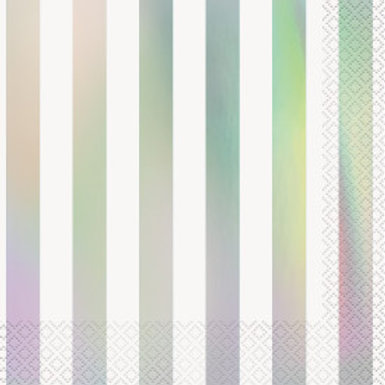 Iridescent Stripes Luncheon Napkins