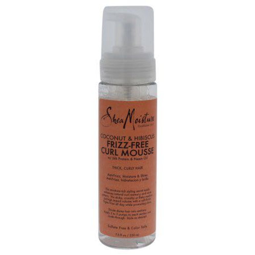 Sheamoisture frizz-free curl mousse, coconut & hibiscus - 7.5 fl oz