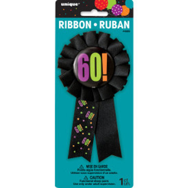 Birthday Cheer Age 60 Award Badge