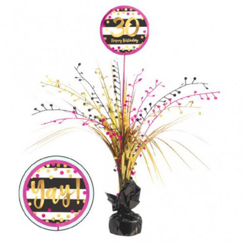 Pink and Gold Milestone 30 Spray Centerpiece
