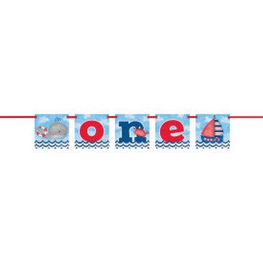 Nautical 1st Birthday Block Banner