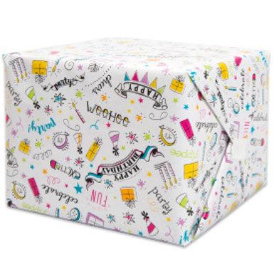Doodle Birthday Gift Wrap