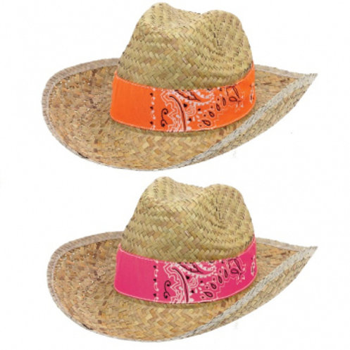 Fiesta Hat Straw W/Band