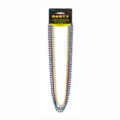 Bead Necklace-Assorted Metallic