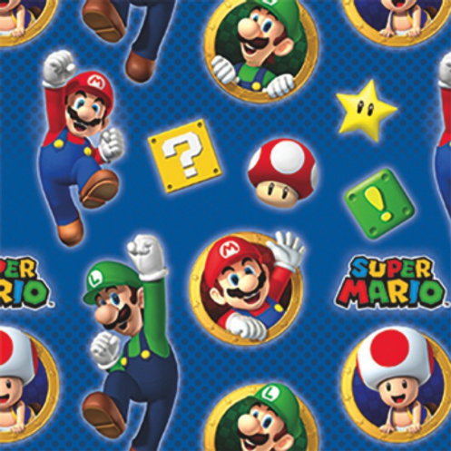 Super Mario Brothers Printed Gift Wrap