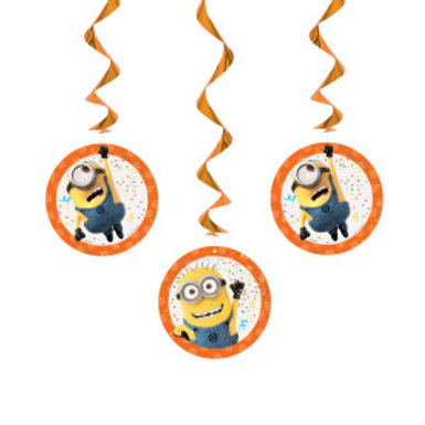 Despicable Me Hanging Swirl Decorations