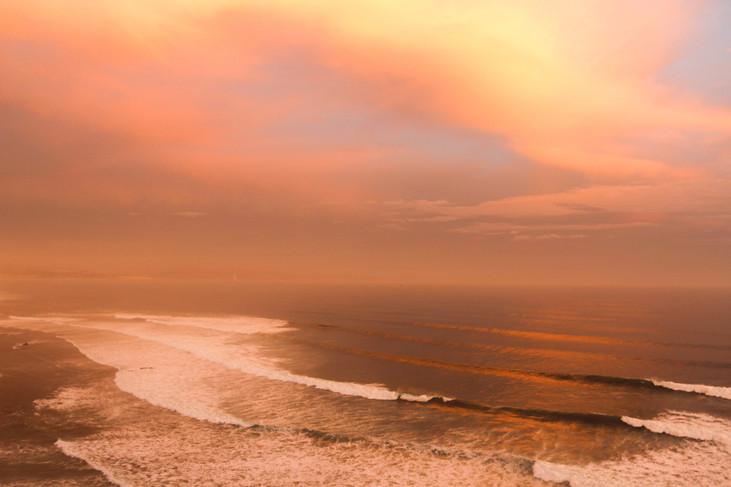 """Wavy Sunset in Baja"" Ensenada, Mexico. 2018"