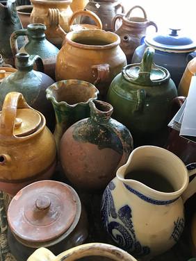Local ceramics at Brocante