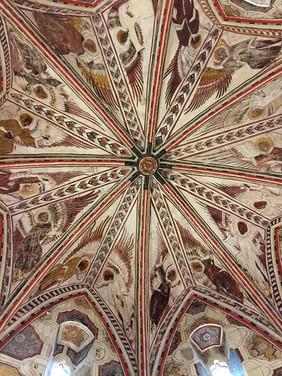 La Collegiate ceiling in La Romieu