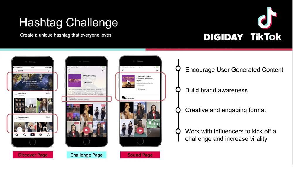 Hashtag challenge ads