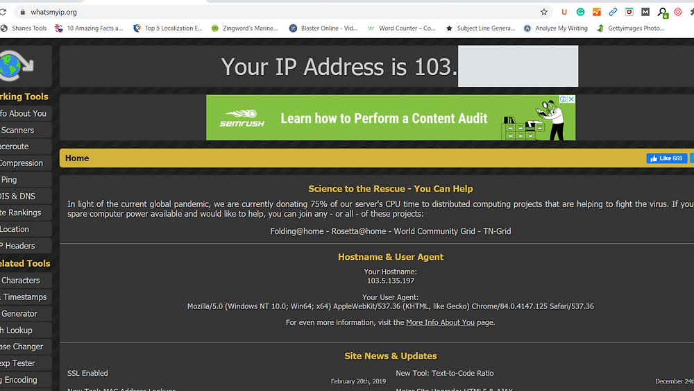 IP ADDRESS SITE