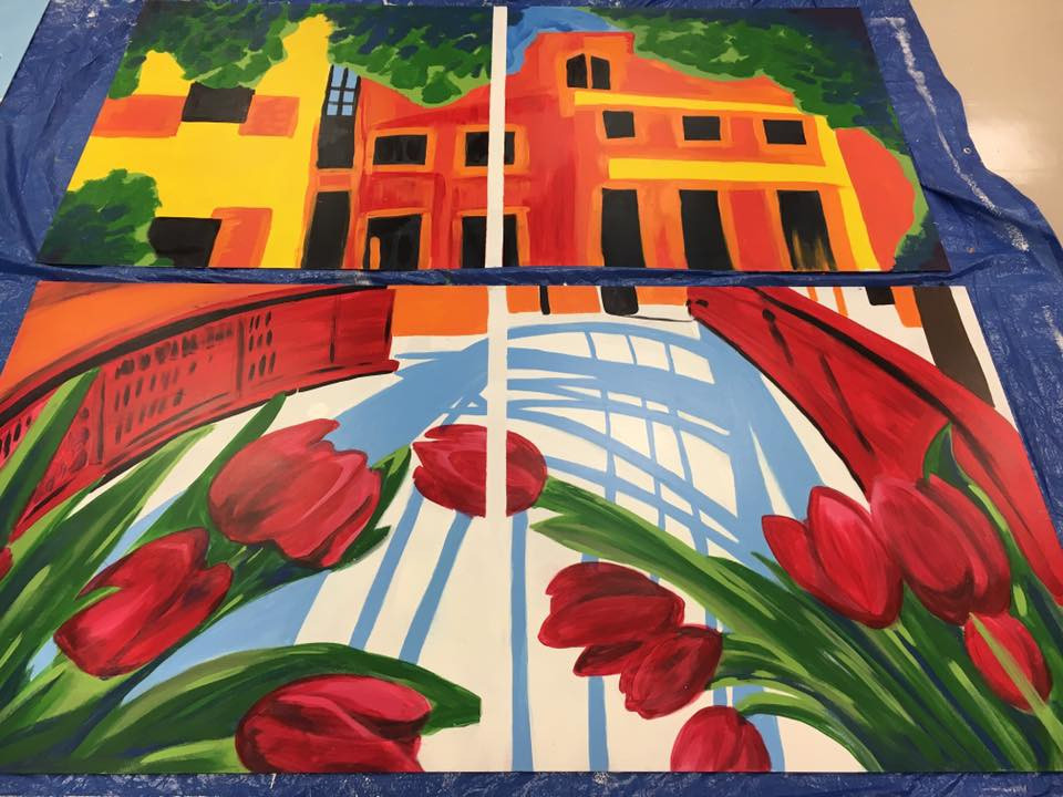 """Murals in Schools - """"A View of Our City"""""""