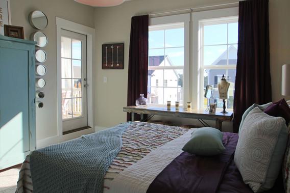 Maroon House Bedroom