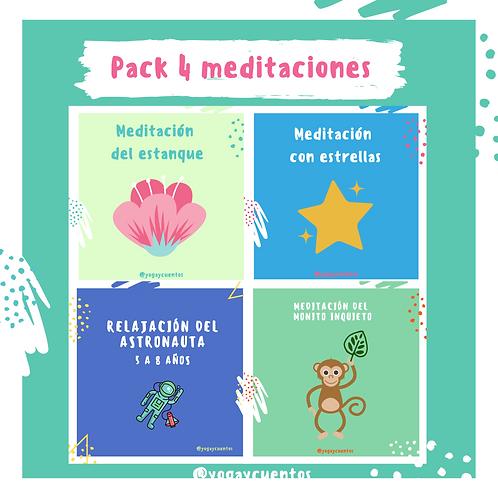 Pack 4 meditaciones