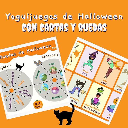 Halloween Yogui Juego: Cartas y Ruedas