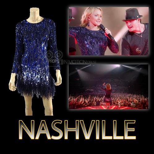 Nashville (2012-18) Juliette Barnes (Hayden Panettiere) Sequin & Feather Dress