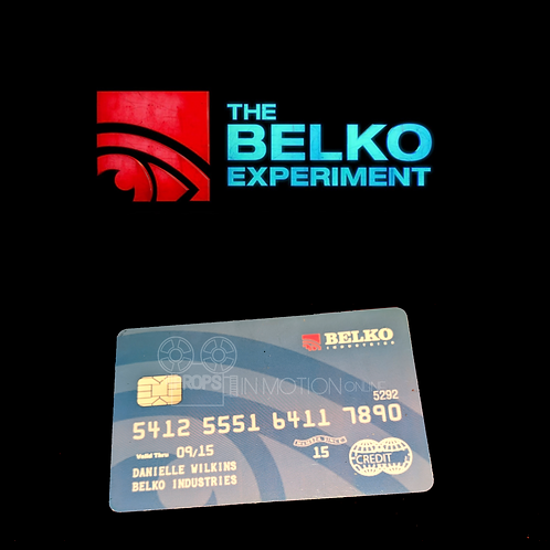 The Belko Experiment (2016) Danielle Wilkins (Melonie Diaz) Credit Card (0710)