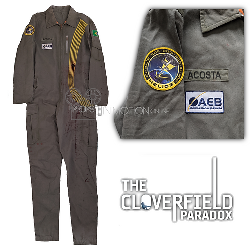 The Cloverfield Paradox (2018) Acosta Bloody/Distressed Jumpsuit + T shirt (0613