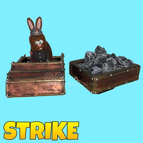 Strike (2018) Large Mine Cart + Rock Trailer (S318)