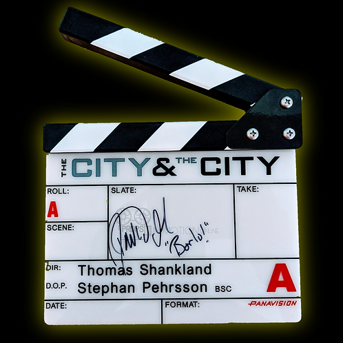 The City and the City (2018) (TV) David Morrissey Signed Slate (0618)