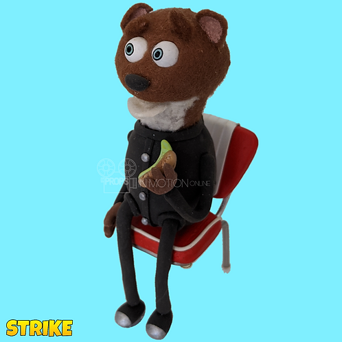 Strike (2018) Diner Stop Motion Puppet on Chair (S95)