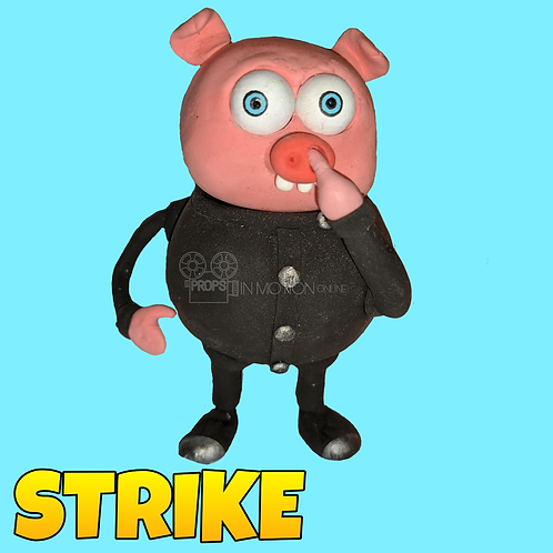 Strike (2018) Nose Picking Pig Stop Motion Puppet (S54)