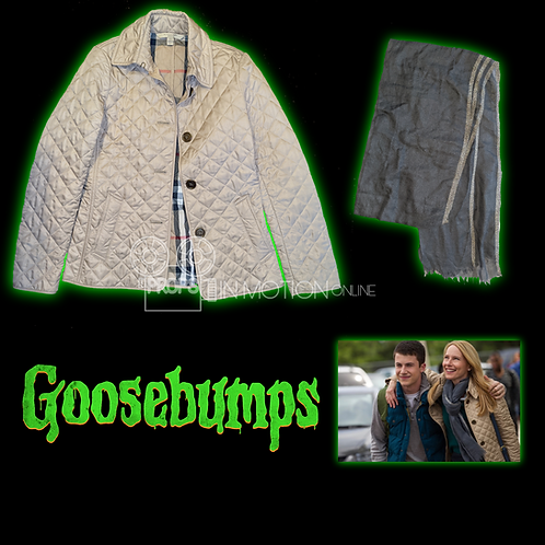 Goosebumps (2015) Gale (Amy Ryan) Jacket + Scarf (0714)