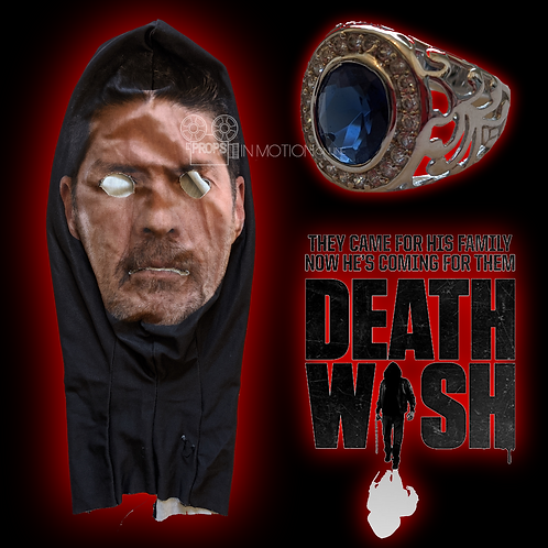 Death Wish (2018) Knox (Beau Knapp) Hero Mask + Ring (0677)