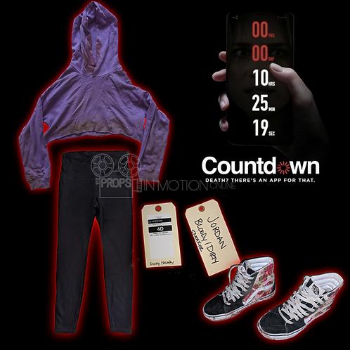 Countdown (2019) Jordan Harris (Talitha Eliana Bateman) Bloody costume (0703)
