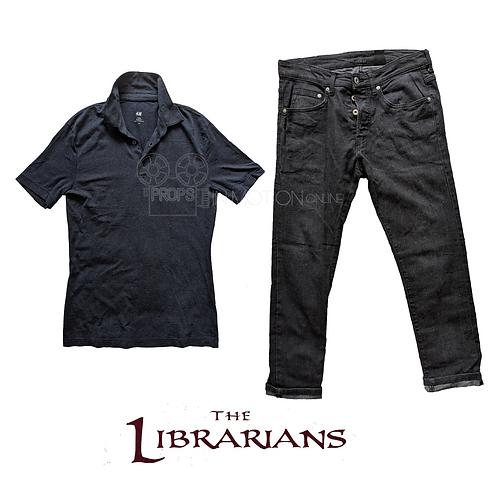 The Librarians (TV) (2014-2018) Ezekiel Jones (John Harlan Kim) Shirt + Jeans