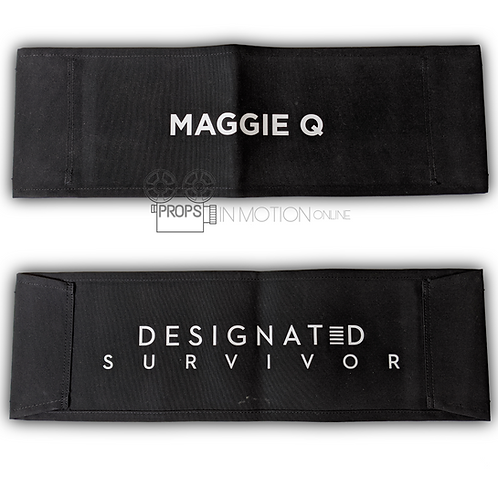 Designated Survivor (TV) (2016-2019) Maggie Q Production Chair back (0583)