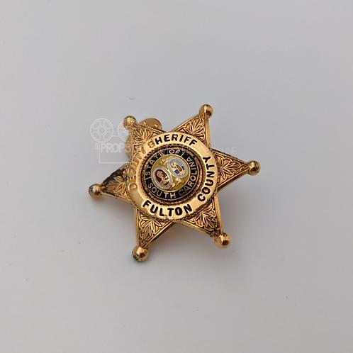 American Gothic (TV) (1995-98) Deputy Sheriff Ben (Nick Searcy) Hat badge (0854)