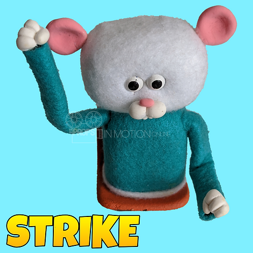 Strike (2019) Stadium Crowd Stop Motion Puppet with Seat (S01)