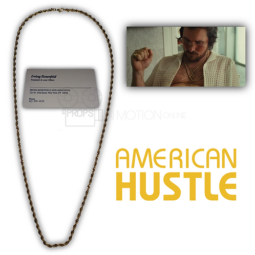 American Hustle (2013) Irving Rosenfeld (Christian Bale) Chain + Business Card