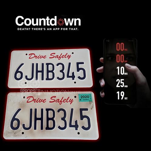 Countdown (2019) Matt's Death Truck license plates (0668)