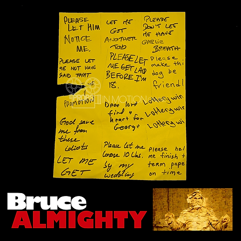 Bruce Almighty (2003) Post-it Prayer Notes Sheet