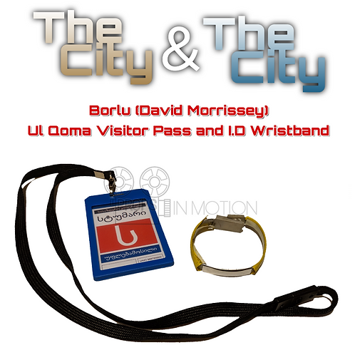 The City & The City (2018) Borlu (David Morrissey) Visitor Pass + I.D Wristband